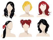 Hair styles royalty free illustration