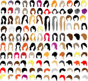 Hair styles. Large collection of styles for men and women Stock Images