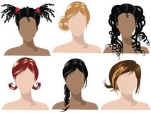 Hair styles 2 royalty free illustration