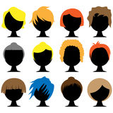 Hair Styles. Set of various hair styles Stock Photography