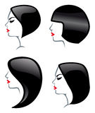 Hair Styles icons Stock Photography