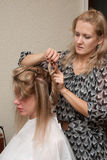 Hair styling Stock Photos