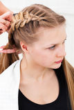 Hair styling Royalty Free Stock Photos