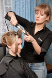 Hair styling Royalty Free Stock Image