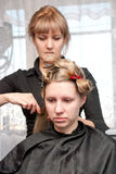 Hair styling Stock Images