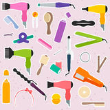 Hair styling accessories Royalty Free Stock Photos