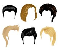 Hair styling for man. Set of hair style samples for man royalty free illustration