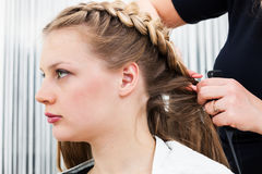 A hair styling Royalty Free Stock Images