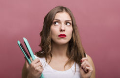 Hair styling Stock Photos