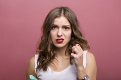 Hair styling Royalty Free Stock Photo