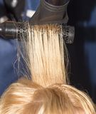 Hair styling in the salon Royalty Free Stock Photography