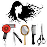 Hair styling tools Stock Photo