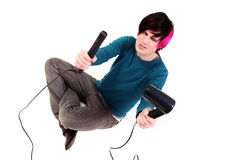 Hair styling trouble Royalty Free Stock Photography