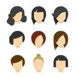 Hair styling vector illustration  on white background Stock Photo