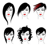 Hair styling for woman Stock Images