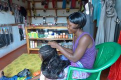 Hair stylist Stock Image