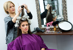 Free Hair Stylist At Work Royalty Free Stock Image - 17284986