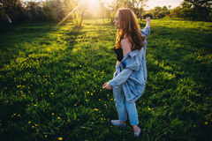 Hair in the sun. Field Royalty Free Stock Images