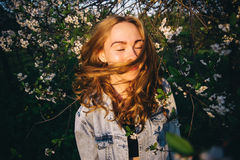 Hair in the sun. Field Royalty Free Stock Photography