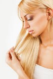 Hair tips Stock Images