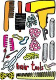 Hair tools. On white background. vector image Stock Images