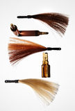 Hair treatment and color composition Royalty Free Stock Photography