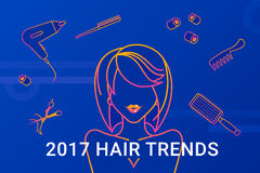 2017 hair trends Royalty Free Stock Photos