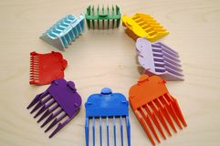 Hair Trimmer Set. A full set hair trimmer clippers royalty free stock photos