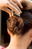 Hair Twirl from Behind stock photography