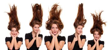 Hair up Stock Photos