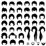 Hair, vector hairstyle stock illustration