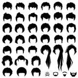 Hair, vector hairstyle Stock Photo