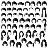 Hair, vector hairstyle Royalty Free Stock Photography
