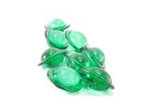 Hair vitamin serum capsule green color Royalty Free Stock Image