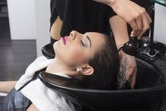 Hair Wash Stock Images