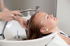 Hair Wash At Salon Royalty Free Stock Photo
