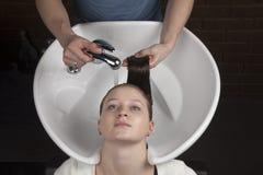 Hair washing Royalty Free Stock Images