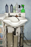 Hair Washing Sink at Salon Stock Photo