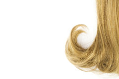 Hair on a white background Royalty Free Stock Photography