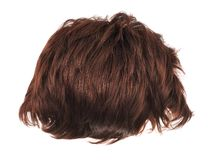 Hair wig isolated Royalty Free Stock Images
