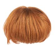 Hair wig isolated. Straight hair wig isolated over the white background Stock Photography