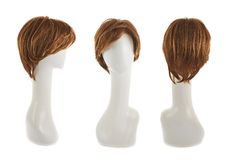 Hair wig over the mannequin head Stock Images