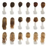 Hair wig over the mannequin head set Stock Photo