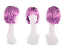 Hair wig over the mannequin head Royalty Free Stock Images