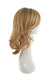 Hair wig over the mannequin head. Wavy hair wig over the white plastic mannequin head isolated over the white background Stock Images