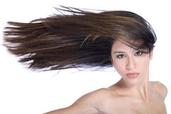 Hair in the wind Royalty Free Stock Photography