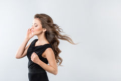 Hair wind. Stock Photography