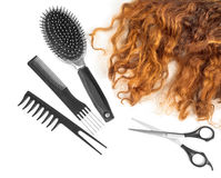 Free Hair With Scissors On Close Up Royalty Free Stock Photography - 62030597