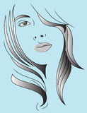 Hair woman Royalty Free Stock Image