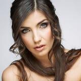 hairball tła karcianej twarzy powitania strony szablonu ogólnoludzka sieci kobieta zbliżenia twarzy portreta kobieta Obraz Royalty Free